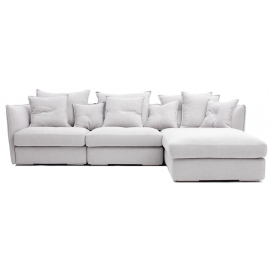 HI-HI THREE SEATER CORNER SOFA | LEATHER