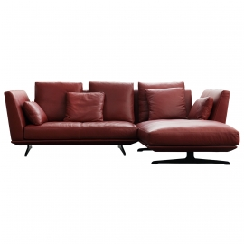 HIL-HIL TWO SEATER CORNER SOFA | LEATHER