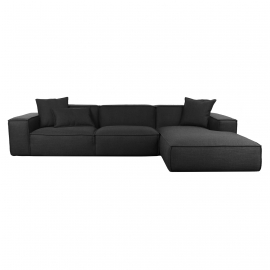 KI-KI Three Seater Corner Sofa | Leather