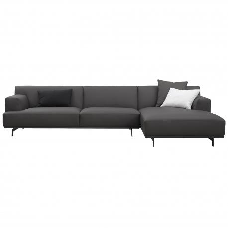 Mi Mi Three Seater Corner Sofa Leather Jg Casa