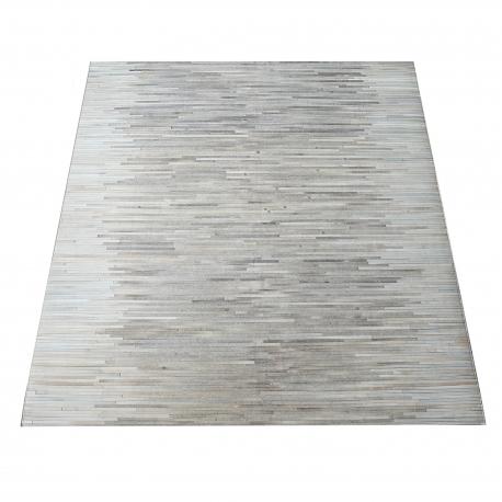 Grey Diamond Design Cowhide Rug