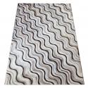 Mixed Brown Wave Design Cowhide Rug (2 x 3m)