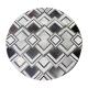 Grey Maze Design Cowhide Rug