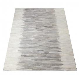 Grey Stripe Design Cowhide Rug (1.8 x 2.3 m)