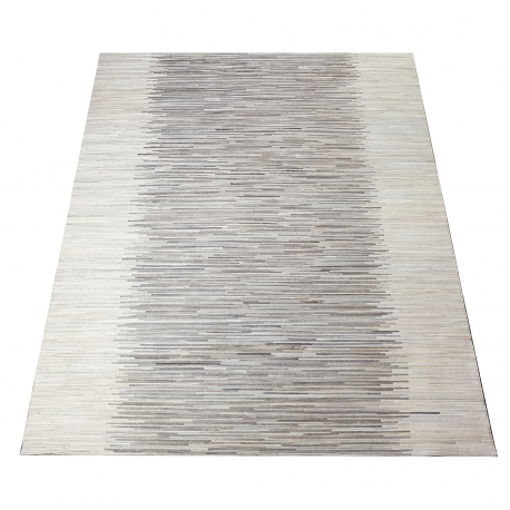 Grey Stripe Design Cowhide Rug (1.8 x 2.3 m)