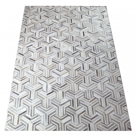 Grey Mirage Design Cowhide Rug (2 x 3m)