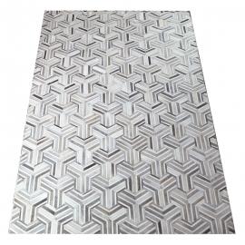 Grey Mirage Design Cowhide Rug (2 x 3m)