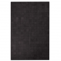 Dark Brown Small Square Design Cowhide Rug (3 x 2m)