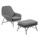 De-De Lounge Chair with Ottoman
