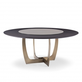 RUF-RUF DINING TABLE WITH TURNTABLE   1.5M